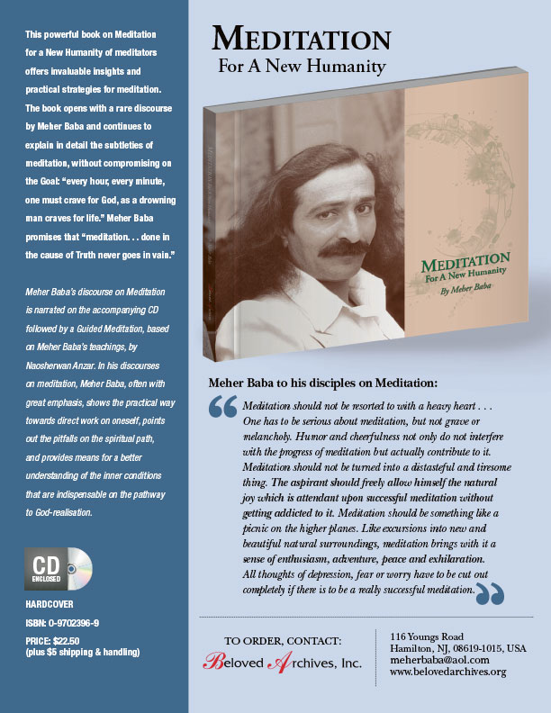 Meditation Meher Baba new book